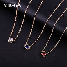 elegant pendant necklace images Buy migga elegant single cz stone zircon crystal jpg