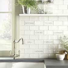 kitchen tiled splashback ideas herbs spices tile splashback from the winchester tile company