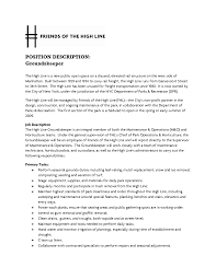 Resume Sample Driver Position by Groundskeeper Resume Free Resume Example And Writing Download