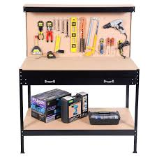 Tool Bench For Garage Giantex Steel Frame Work Bench Tool Storage Tool Workshop Table W