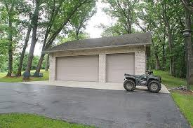 2 5 car detached garage separate door for a utility vehicle 3