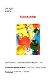 rapport de stage 3eme cuisine rapport de stage 3eme man9 manon rapports de stage