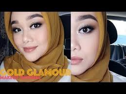 tutorial make up wardah untuk pesta makeup kondangan gold glamour makeup look makeup tutorial