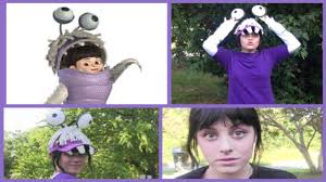 Lil Monster Halloween Costume by Diy Boo Monsters Inc Halloween Costume Lalaween Youtube