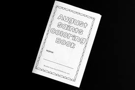 printable saints coloring book for november