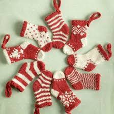 knitted christmas deck the halls with these mini knitted christmas socks patterns