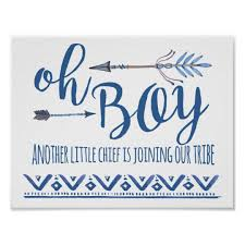 baby shower sign oh boy tribal baby shower sign zazzle