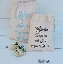 cotton gift ideas personalised message cotton gift bag by seahorse