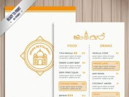 indian menu template indian restaurant menu template free vectors ui