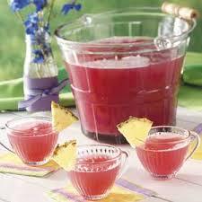 pink rhubarb punch recipe taste of home