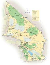 California Zip Code Map by California Deserts Map California Map
