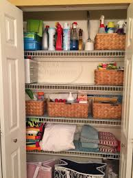 corner linen closet organization
