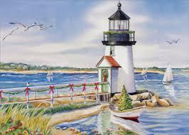 nautical christmas cards lighthouse and nautical christmas card by lpg greetings