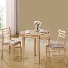 Natural Wood Dining Room Table by Coaster Furniture 130006 3 Pieces Dining Set In Natural With Beige