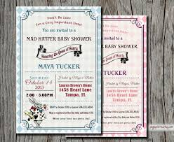 baby shower invitations remarkable alice in wonderland baby