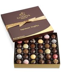 food gift boxes godiva 36 pc signature truffle gift box gourmet food gifts