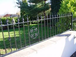 wrought iron fence decorations outdoor landscaping backyards