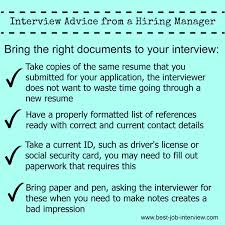 Bring Resume To Interview Perfect Your Job Interview Technique