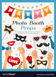 photo booth party props photo booth party props poster royalty free vector image