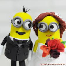 minion wedding cake topper minions custom wedding cake topper minions topper
