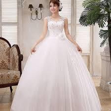 wedding dresses for women sweet white v neck solid lace floor length wedding dress for women