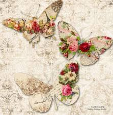 Roses And Butterflies - printable digital butterfly tags roses scrapbooking journals