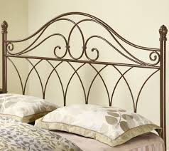 interesting iron headboard king with 2 cushions headboards