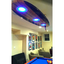 surfboard pool table billiard game room bar ceiling light