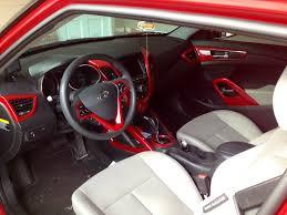 hyundai veloster turbo red interior my build