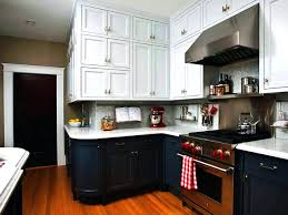 kitchen cabinets different colors kitchen kitchen two color cabinets white and yellow different in