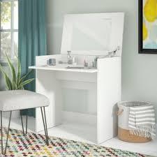 White Vanity Mirror With Lights Makeup Tables And Vanities You U0027ll Love Wayfair