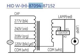 how to hook up a 240v hid ballast have no wiring diagram