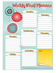weekly family meal planner template free printable meal planner november more weekly meal planning resources