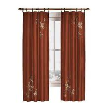 Brown Floral Curtains Red Floral Curtains U0026 Drapes Window Treatments The Home Depot