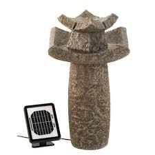 Fountains For Home Decor Wholesale Solar Power Water Fountain Zen Pagoda Pedestal Fountain