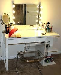 professional makeup desk vanity mirror with light bulbs home depot around it best of ne