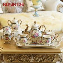 Wedding Gift Set Royal Ceramics 12 Western European Coffee Tea Set With Tray Tea