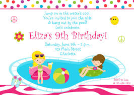 Unique Party Party Invitations Stylish Pool Party Invitation Designs Teen Pool