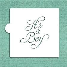 it s a boy cookie and craft stencil