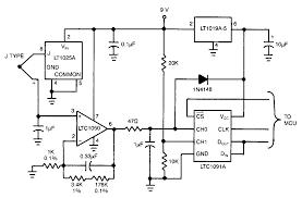 gas temperature monitor detection circuit diagram world