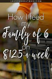how i feed my family of 6 on a budget of 125 a week greutman