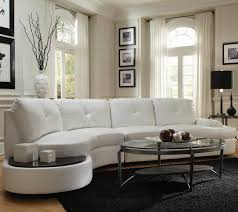 Curve Sofas by Round Leather Sectional Sofas With Curve Appeal Best Sectional