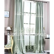 Country Curtains For Living Room Coffee And Ivory Botanical Embroidery Linen Country Curtains For
