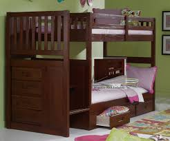 bunk with trundle and stairs ponderosa bed storage discovery world