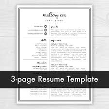 resume templates for mac text edit double space 3 page resume template resume icons resume design resume