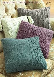 Knitted Cushion Cover Patterns Sirdar Hayfield 7260 Knitting Pattern Cushion Covers To Knit In
