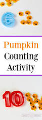 number recognition using mini pumpkin erasers kids learning activity