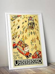 Old World Map Poster by London Underground Tube Posters U0026 Gifts
