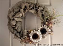 chic on a shoestring decorating handmade burlap wreath sneak peak