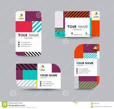 modern business card and name card design stock vector image